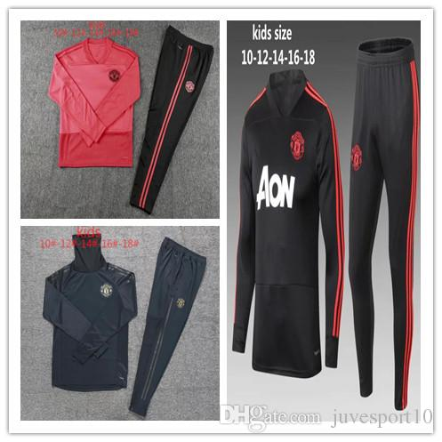 245dc4a25 2019 18 19 Kids Manchester United Tracksuit Survetement POGBA Football  Training Kit UTD 2018 19 LUKAKU MATA United Child Soccer Tracksuits From  Juvesport10