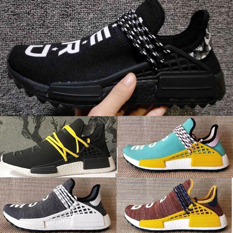 competitive price ba27c d6446 2018 NEW NMD Human Race Pharrell Williams Hu Trail Holi Mens Women Running  Shoe High Quality primeknit Human Races Trainers Sports Sneakers