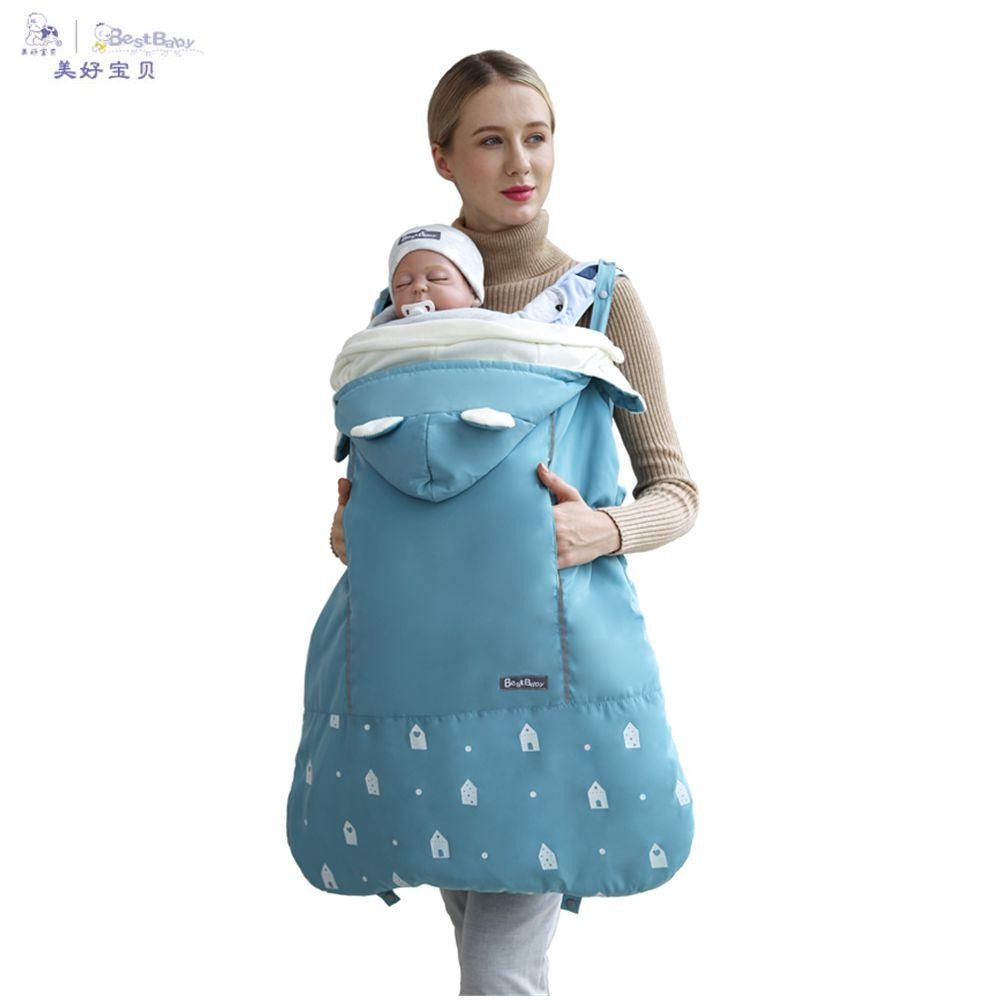 Activity & Gear Backpacks & Carriers Best Baby Winter Baby Carrier Cloak Warm Cape Stroller Pram Cover Wind Rain Snow Proof With Baby Car