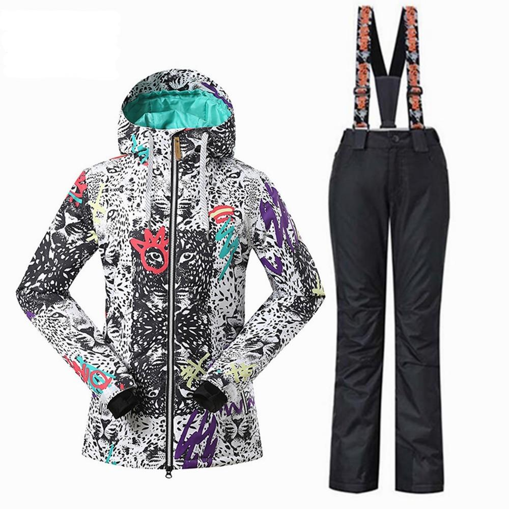 Women s Ski Sets Ski Jackets+ski Pants Snowboard Suit Outdoor Sports ... 4ca5889a98