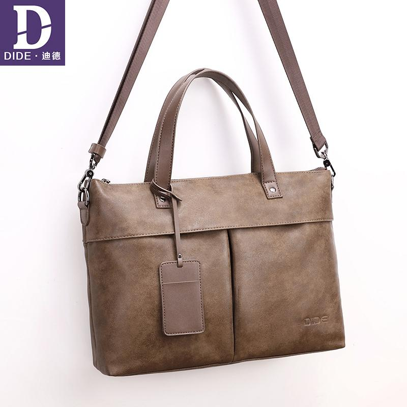 2018 Business Men Briefcase Bag PU Leather Black Luxury Brand ... 10866047bd663