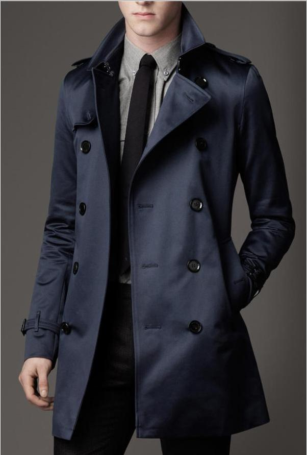 6180eaafb 2018 new Fashion Mens Long Winter Coats Slim Fit Men Casual Trench Coat  Mens Double Breasted Trench Coat UK Style Outwear