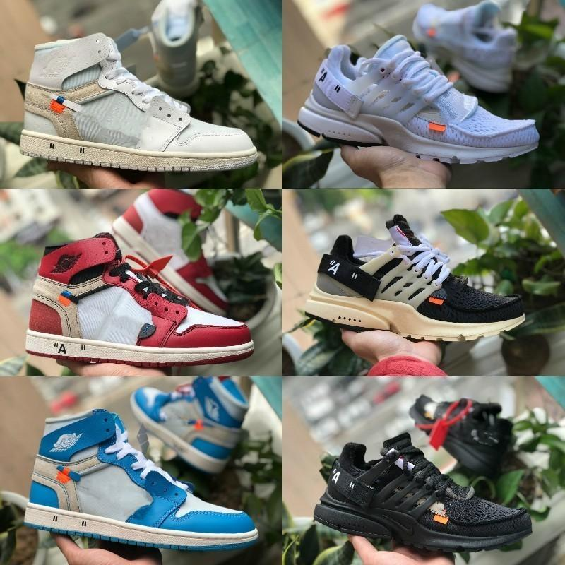 a76aa1064 Acheter 2019 Nike Air Jordan 1 White Shoes High Jordans OG Basketball  Chaussures Pas Cher Off Royal Banned Bred Noir Blanc Rétro Toe Hommes Femmes  Formateur ...