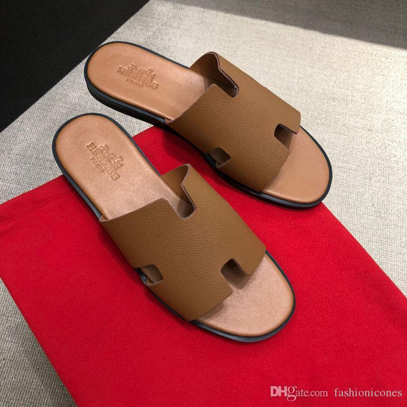 21e97a277 Luxury Designer Sandals Flat Sandals Men s Designer Shoes 2019 New Men s  High-end Slippers Designer Slippers High quality