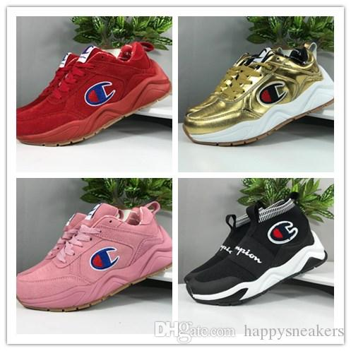 67c95b00c31fe 2019 CASBIA X Champion AWOL Atlanta Fly Knit Man Women High Sneakers  Fashion Street Old Dad Shoes From Happysneakers