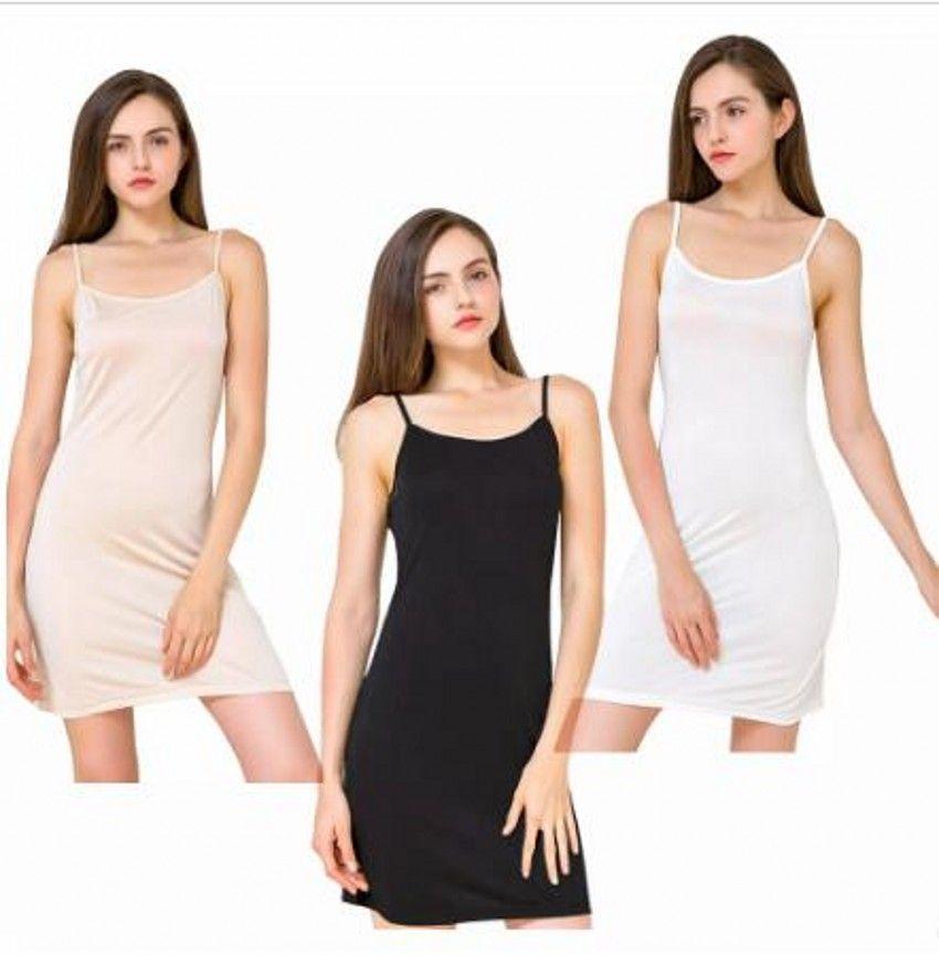 f7420fecd Compre Sexy Simples Das Mulheres De Seda Sleepwear Lingerie Nightgowns  Vestido De Pijama Mulher Sólidos Spaghetti Straps Nightwear Underskirt  Sleepshirts ...