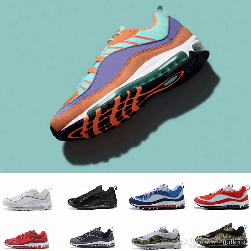 1757e75ef4f15f New 98 Camo Cone Mens Running Shoes For Men 98s White Red Navy Fluorescent Green  Athletic Sports Chaussures Womens Designer Sneakers Size 12 Neutral Running  ...