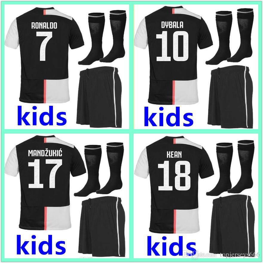 125ac10e65b 2019 2019 2020 Juventus Soccer Jersey Kids Kit Sets Socks 19 20 ...