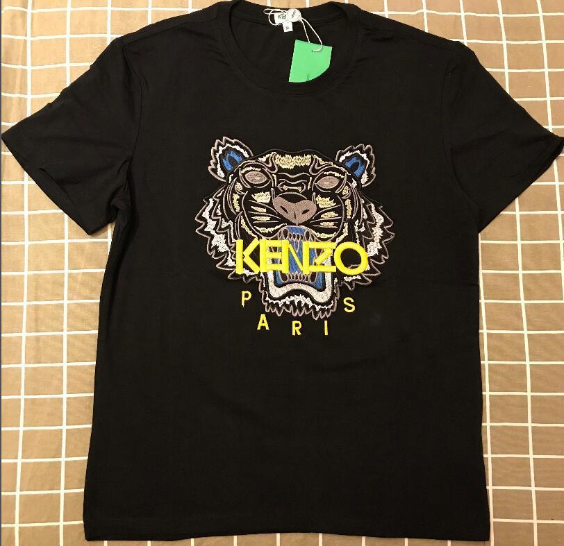 d9f6856e37 2019 T-shirt uomo in cotone Justin Bieber T-shirt Kenzo brand con t-shirt  modello Tiger Head con maniche corte per uomo e donna Camicie