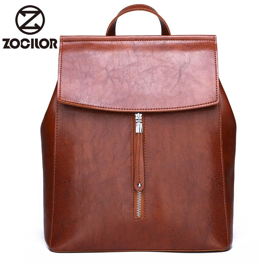 2019 new Woman Backpack high quality Leather Brand Female Backpacks High Quality Schoolbag Large Capacity School Bag Travel Bag V191212