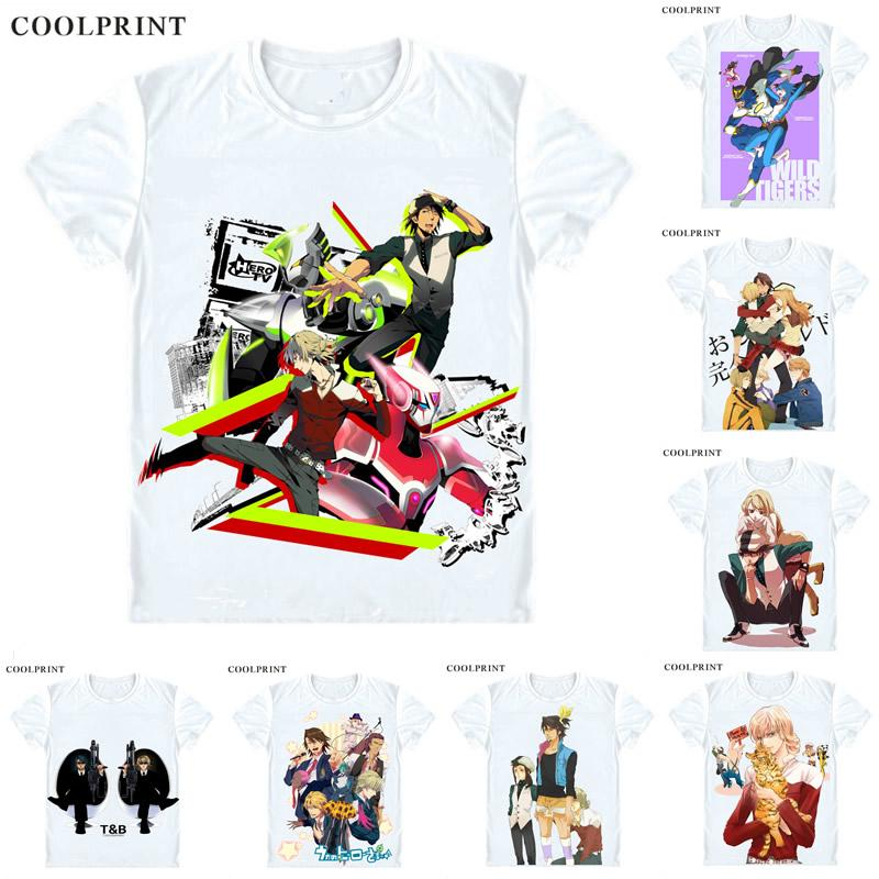 Tiger Hase Tiger Und Hase T Shirt Tb Kaburagi T Kotetsu Anime Benutzerdefinierte Casual Cosplay T Shirt Druck Kurzarm T Shirt