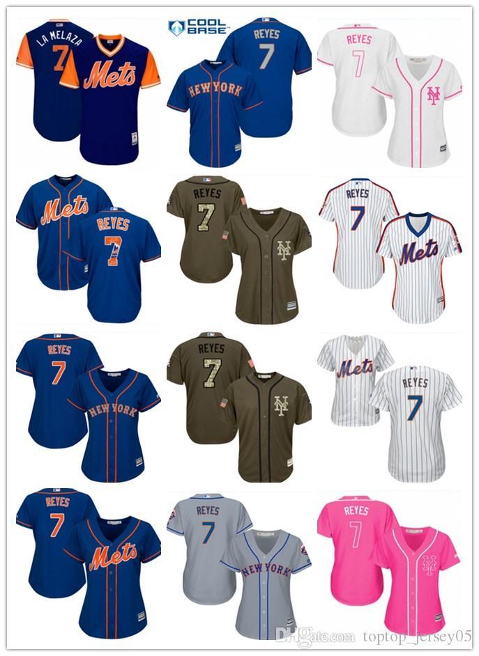quality design 501a0 a5b8a 2018 top New York Mets Jerseys #7 Jose Reyes Jerseys men#WOMEN#YOUTH#Men s  Baseball Jersey Majestic Stitched Professional sportswear