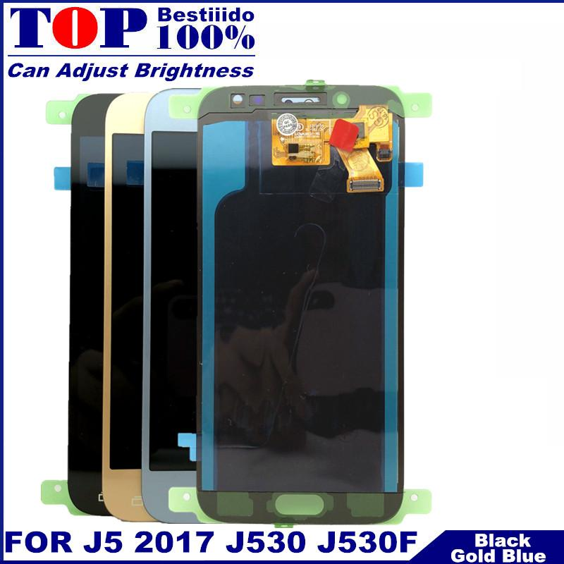 100% testados para Samsung Galaxy J5 2017 J530 J530F SM-J530F J530M LCD Screen Display Toque digitador Assembléia LCD