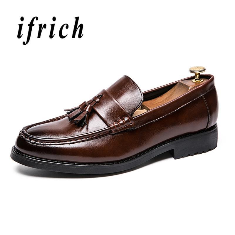 62955beeea938 Compre Vestido De Negocios Calzado Masculino Marrón Negro Zapatillas Sin  Cordones Para Hombres Zapatos Cómodos Y Elegantes Para Hombres Zapatos  Duraderos ...