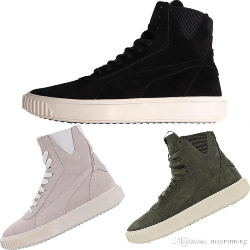 c0eab34b4de472 With Box 2019 Breaker Hi Evolution All Chamois Leather Warm Fashion Boots  Breaker Hi Evolution High Top Court Platform Board Shoes Motorcycle Boots  Military ...