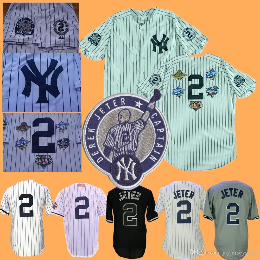 2019 Derek Jeter Jersey 1995 Vinatage Men Women Youth Kid Home Away New  York Baseball Jerseys White Pinstripe Grey From Jayjerseystore 1c27dc58148