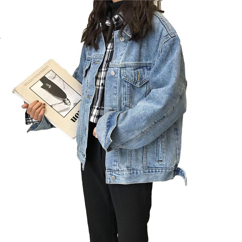 36b55438c459 Spring Autumn Women Denim Jackets Boyfriend Style Vintage Female ...