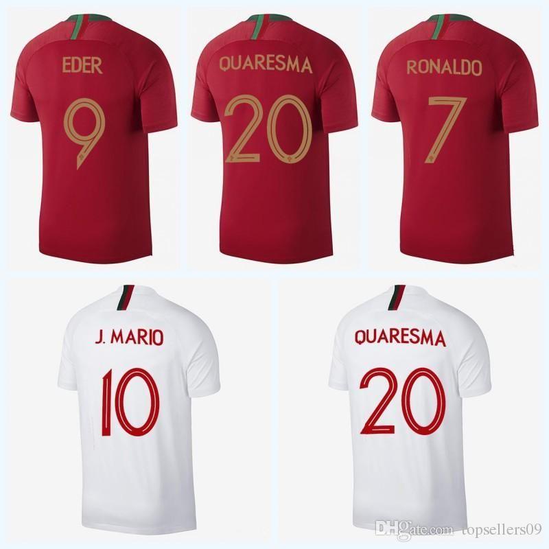 2019 2018 World Cup EDER Home Away Football Shirt J MOUTINHO Camisa De  Futebol J MARIO QUARESMA Maillot De Football Soccer Jersey From E jerseys 147619d49