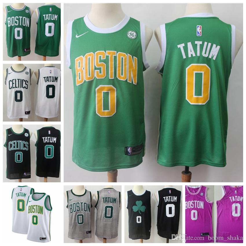 350683a62 2019 2019 New Mens Boston 0 Jayson Tatum Celtics Playoff Basketball Jerseys  Stitched 2018 Jayson Tatum New City Edition White Basketball Jerseys From  ...