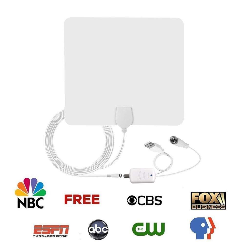 TV Fox Antenna, Indoor Digital Amplified HDTV Antennas 50 80