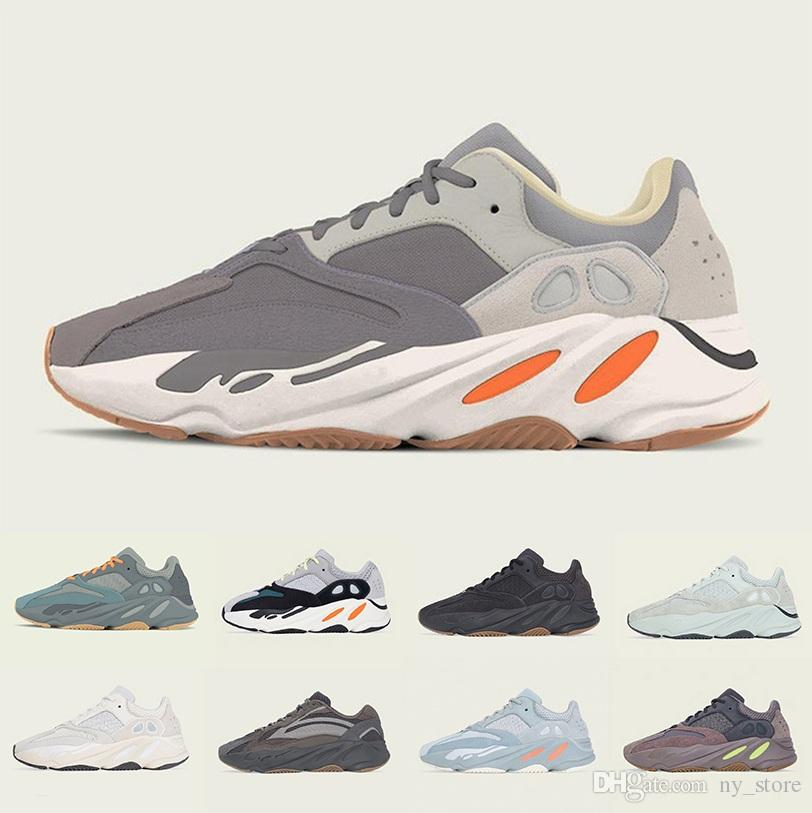 Adidas Yeezy Boost 700 V2 shoes 3M Reflective Vanta Analog Geode Inertia Static Kanye West Boost 700 V2 Wave Runner Running Shoes Mens Womens Mauve