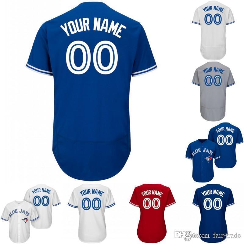 7d9a9689911 Custom 2019 Toronto Blue Jersey Jays Vladimir Vlad Guerrero Jr. Jr ...