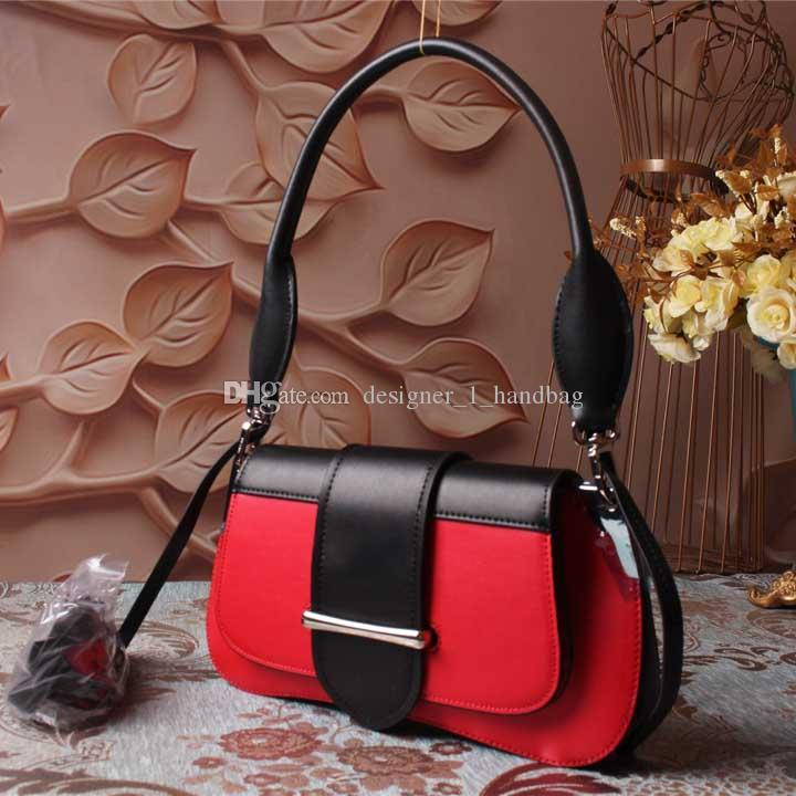 2018 famous designer women handbags shoulder bags high quality genuine leather saddle bag new with box