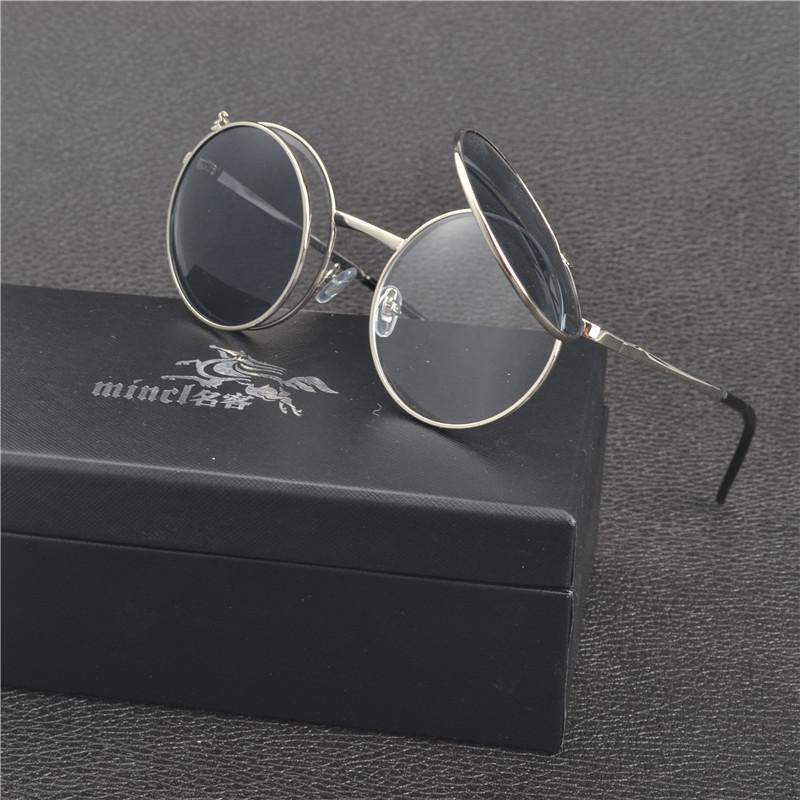 2b5f1e588e Compre 2019 Tendencias De Gafas De Sol Polarizadas Para Hombres Retro  Hippie Gafas Gafas Round Flip Punk Gafas De Sol Mujeres Vintage Shades FML  A $44.42 ...
