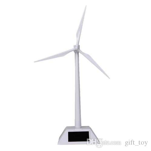 Solar Powered Rotating Base Desktop Model Solar Powered Windmills Model Wind Turbine ABS Plastic Toys Easy To Assembled Toys Educational Gifts For Kids ...
