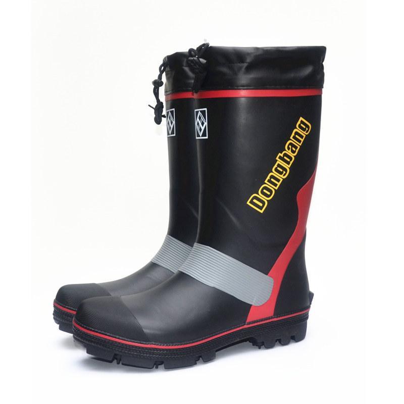 9c146d18be9 Compre Sapatos De Trabalho De Sapatos Masculinos Botas De Alta Galochas  Antiderrapantes Moda Botas De Neve Pesca De Grapeen