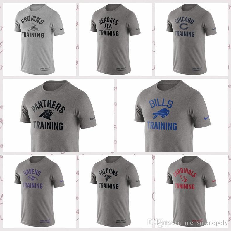 new concept 12367 a9964 Chicgo Bears Carolina Pnthers Buffalo Bils Atlanta Falcons Clevland Browns  Heathered Gray Training Performance T-shirt