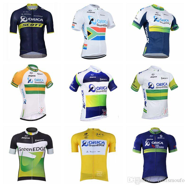 ORICA EDGEGREEN Team Cycling Short Sleeve Jersey 2018 Bicycle Clothing  Sportwear Explosion Trend Hot Sale U30152 Cycle Jerseys Bicycle Clothing  From ... 5a5dc43ee