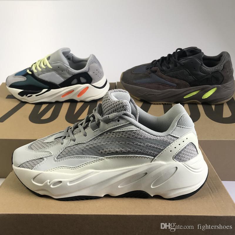 447aa9342 2019 Best Quality 700 V2 Static Mauve Wave Runner 700 Men Women Designer  Sneakers Best Quality Kanye West Sport Shoes With Box 5 13 Running Shoes  Running ...