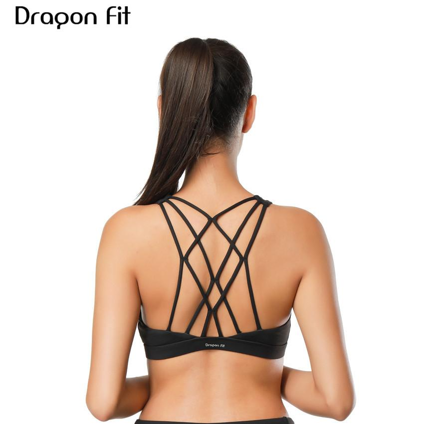 2a302b5b13b1c 2019 Dragon Fit Women Sports Bra For Running Gym Wire Free Shakeproof Push  Up Yoga Bra Female Seamless Underwear Fitness Sport Top From Simmer
