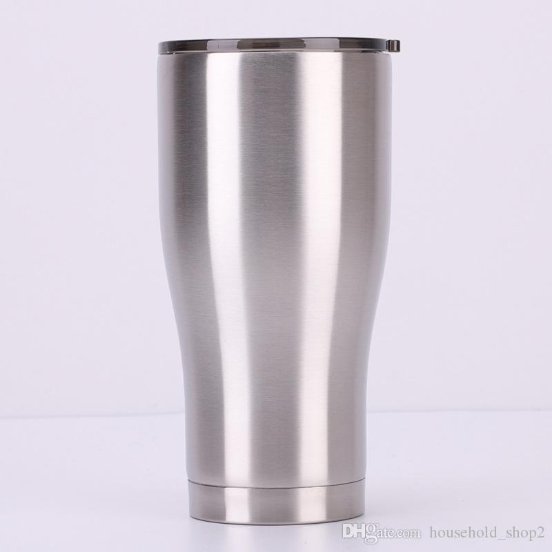 524d970c2a2 modern curve stainless steel tumblers 30oz 20oz double wall insulation  vacuum water coffee mugs with sliding lids