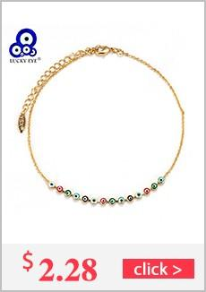 Lucky Eye Black Beads Necklace Turkish Gold Link Chain Hamsa Hand Necklace Evil Eye Charm Necklace Sweater Chain EY105