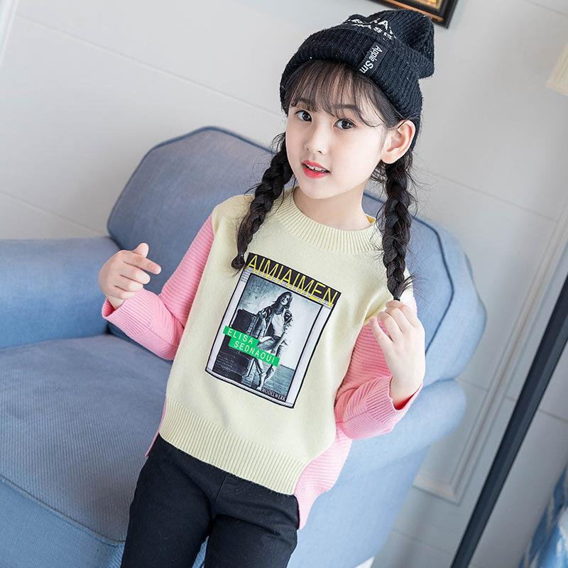 180aae7e2 Baby Girl Sweaters 2019 Cute Sweaters Autumn And Winter New Products ...