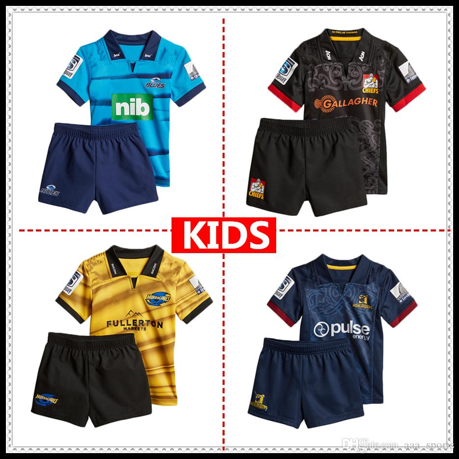 b9ee915d11f 2019 2019 Highlanders Crusaders Blues Kids Super Rugby Jerseys 18 19 ...
