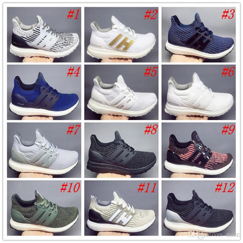 8c0130681 2019 Ultra Boost 4.0 3.0 Triple Black And White Primeknit Oreo CNY Blue  Grey Men Women Running Shoes Ultra Boosts Ultraboost Sport Sneakers 36 45  From Nacc