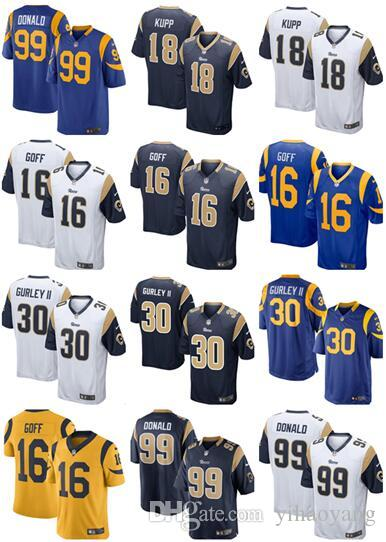 2018 New Los Angeles Rams 30 Todd Gurley II 16 Jared Goff Jersey ... bf8b227ad