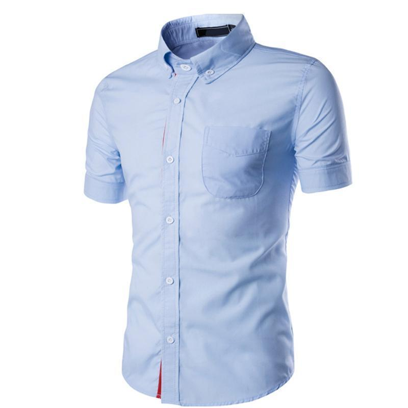 419ba32c2a74 2019 Pop Nice Summer Wear Men s Casual Shirt Male Half Sleeve Coat Ribbon  Fashion Concise Short Sleeve Business Evening Dress Shirt From Losangelesd,  ...