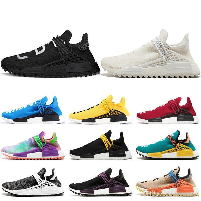 246a44fbb0c6c New Human Race Hu Trail Pharrell Williams Men Running Shoes Nerd ...