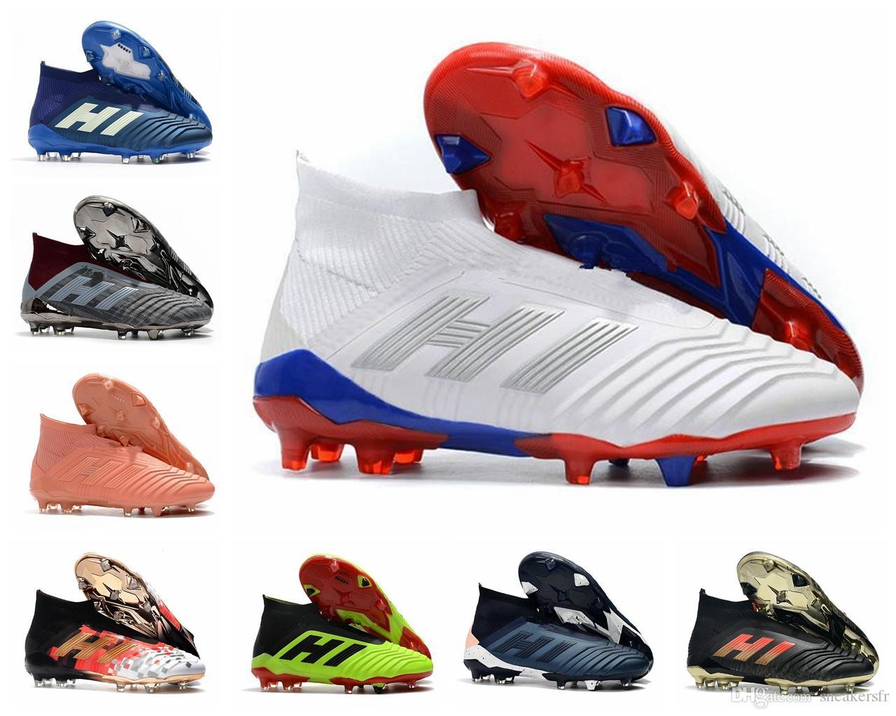 ADIDAS Predator 18 Predator 18.1 FG PP Paul Pogba soccer 18 x tacos Slip On botas de fútbol para hombre zapatos de fútbol de alta calidad