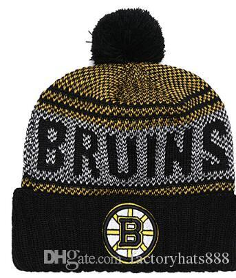 BOSTON Unisex Autumn Winter hat men women Sports Hats Custom Knitted Cap Sideline Cold Weather Knit hat Soft Warm Bruins Beanie Skull Cap 02