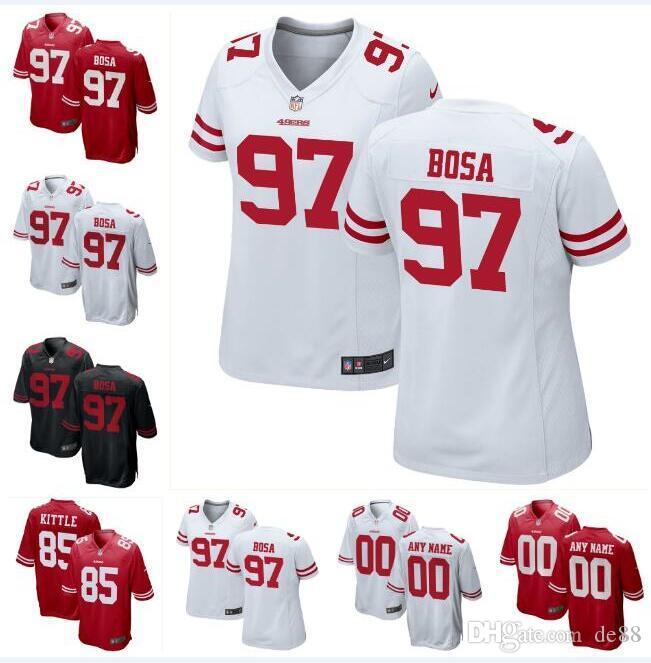 288655300 2019 Nick Bosa George Kittle 49ers Jersey Jimmy Garoppolo Jalen Hurd Tim  Harris Kaden Smith Custom American Football Jerseys 4XL 5XL 6XL Player From  De88