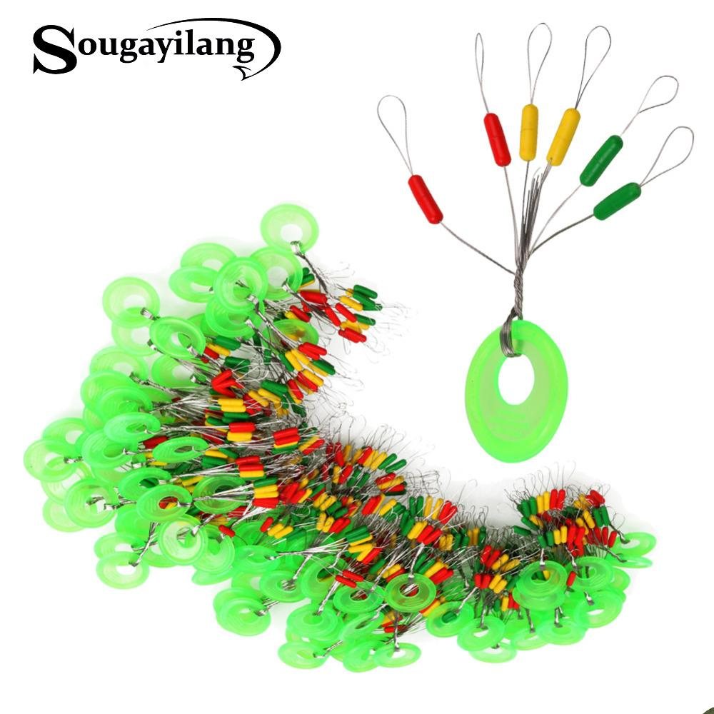 space bean Sougayilang 100pcs/lot Space Beans Stoppers 5cm Float Connector Seat for Carp Fishing Accessories Tackle Floating Seat