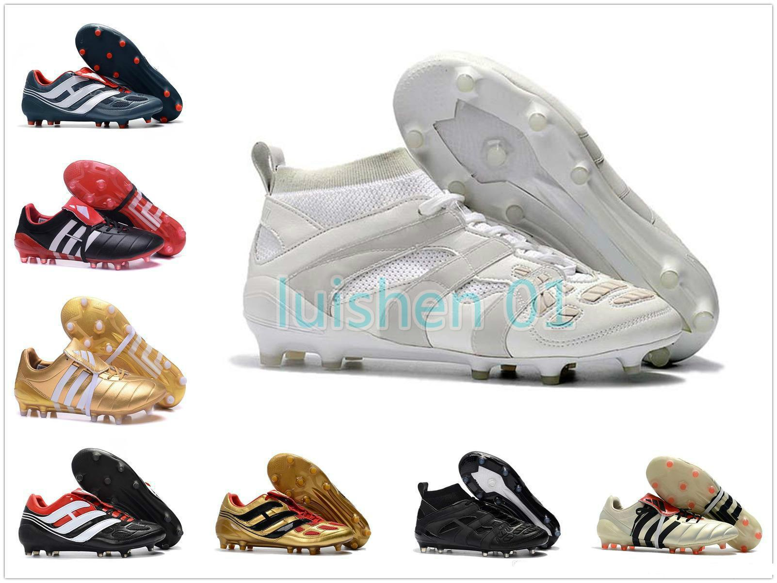 Soccer Mens Turf Cleats Indoor Soccer Shoes Crampons De Football Boots Predator Mania Precision Accelerator Db David Beckham Fg Tf Ic A009