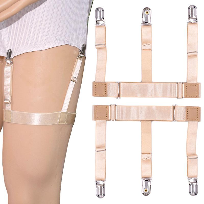 Brand Mens Shirt Stays Suspender Braces For Shirts Holder Gentleman Leg Elastic Women High Quality Garter Adjustable Suspenders Punctual Timing Apparel Accessories