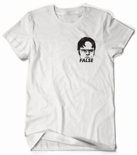 a08dc1e7b Dwight Schrute The Office False Shirt Left Chest ****** Men Women Unisex  Fashion Tshirt Shirt T Shirt Funny T Shirts Cheap From  Designprinttshirts04, ...