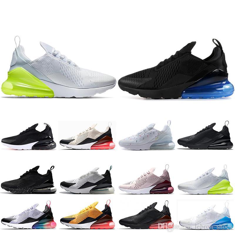 online store 04c74 06ace Großhandel Nike Air Max 270 Neue 270 Herren Laufschuhe Tigerkaktus  Dreibettzimmer Schwarz Weiß Rosa Laufschuhe Sneaker Sport Trainer Schuhe  Größe 36 45 Von ...